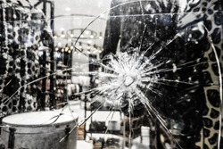 Champs Elysees, store-front windows were smashed as protesters took to the streets of Paris