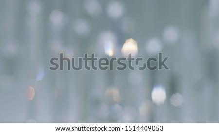 Chandelier background defocus of abstract silver color glitter lights. Background defocused. #1514409053