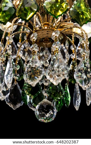 Free photos green crystal chandelier interior avopix chandelier for interior of the living room chandelier details decorated green crystals isolated on black aloadofball Choice Image