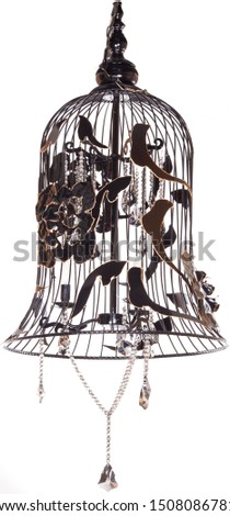 Chandelier in classical style bell shaped (isolated)