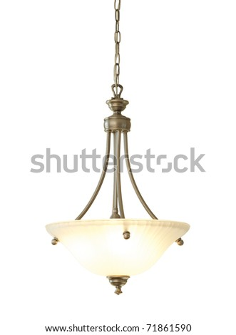 Chandelier isolated on white
