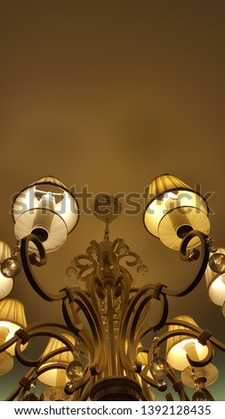 Chandelier. Lamp. Classic lamp. Classic style. Classic style chandelier