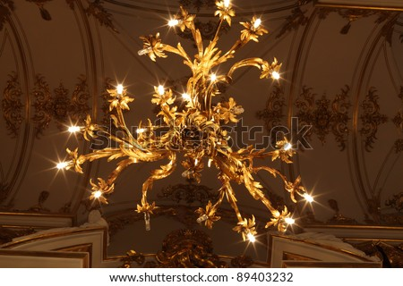 Chandelier of main Staircase of the Winter Palace, Saint Petersburg, Russia