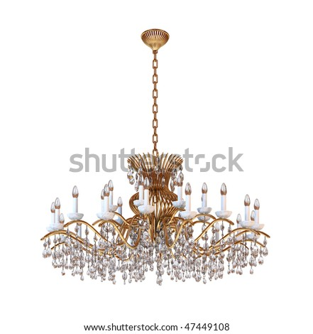 Chandelier on a white background