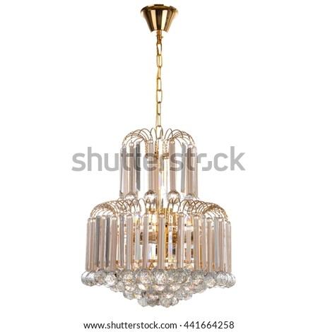 chandelier on white background