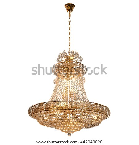 chandelier on white background - Shutterstock ID 442049020