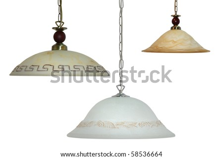 chandelier white isolated