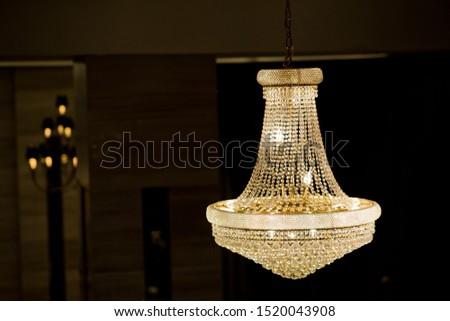 Chandeliers, beautiful light, luxury light