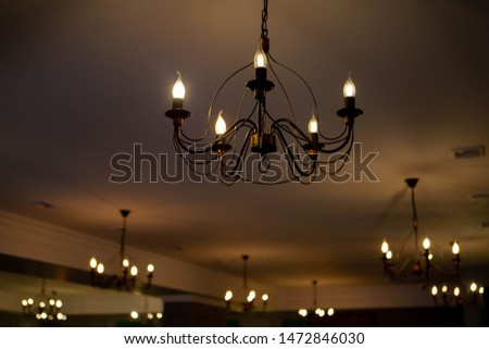 Chandeliers. Elegant chandelier. Luxury chandelier .