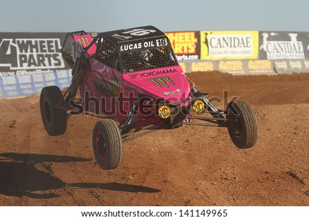 CHANDLER, AZ - OCT 26: Cameron Steele (16) at speed in Pro Buggy Lucas Oil Off Road Series racing during a qualifying session on October 26, 2012 at Firebird International Raceway in Chandler, AZ.