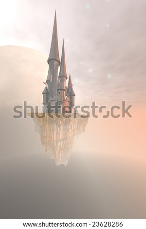 CHANDRA - Fantasy image of a castle up in the sky.