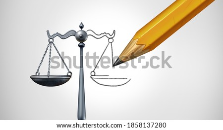 Change the law or ammendment and changing legislation or modify laws as a legal concept of justice modification as a 3D render. Foto stock ©