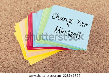 Change Your Mindset / Motivational Inspirational Quote Business Background