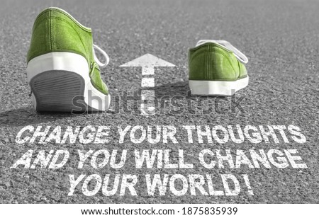 Change your thoughts and you will change your world! Сток-фото ©