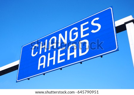 Changes ahead street sign #645790951