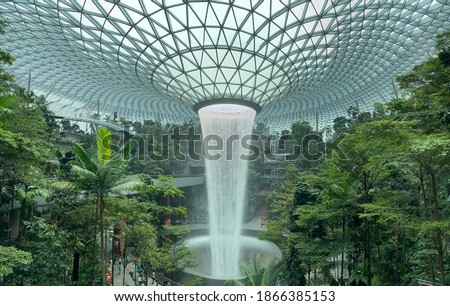 Changi Jewel Singapore. Best airport for sure. Foto stock ©