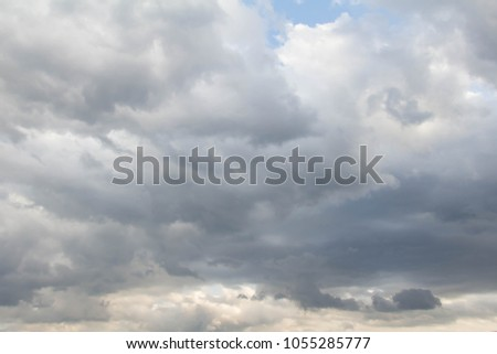 Changing cloudy sky