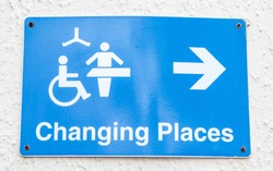 Changing room and toilet sign