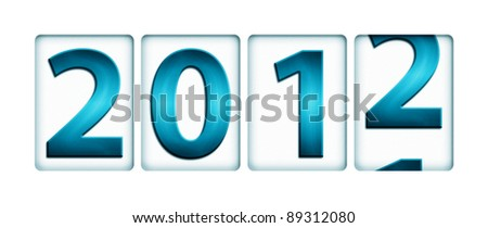 Changing year from 2011 to 2012 (New Year concept)