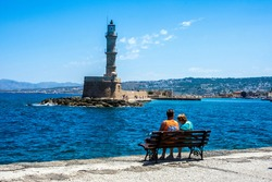 Chania Lighthouse in Crete, Greece, is said to be the oldest in the world.
