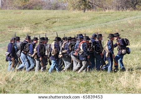 Civil War Soldiers Fighting