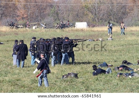 Civil War Soldiers Fighting