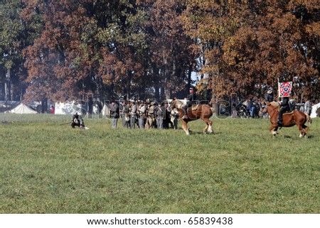 in the Civil War Days Reenactment on October 17, 2010 in Channahon, IL