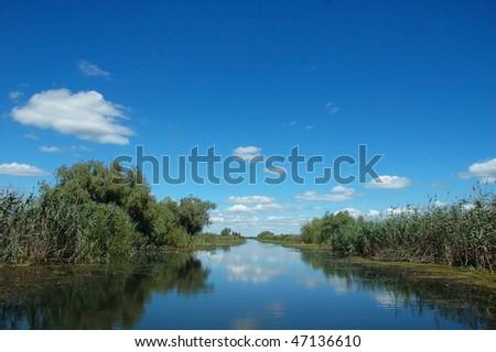 channel in the danube delta