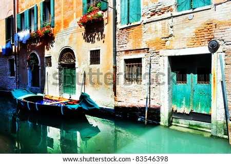 Channel street in Venice, Italy