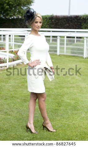 Chantelle Houghton attending The Epsom Derby Meeting at Epsom Downs Racecourse in Surrey. 4th June 2011.  05/06/2011  Picture by: Simon Burchell / Featureflash