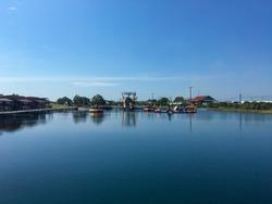 Chanthaburi resort with various water rides and beautiful views.