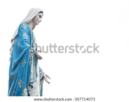 Chanthaburi, Thailand blessed virgin mary isolated most beautiful in Thailand closeup with copy space