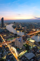 Chao Phraya River, a major river in Thailand