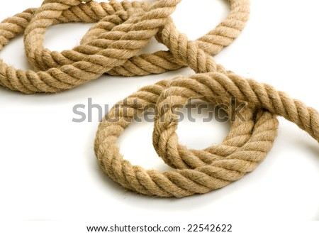 Coils Of Rope. coils of a thick rope on a