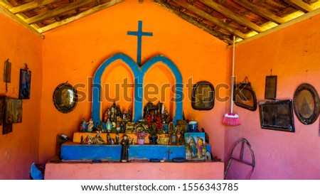 chapel beside the country road for prayers and prayers to god #1556343785