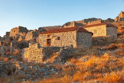 Chapel in  Byzantine Castle of Chora, Kalymnos, Greece