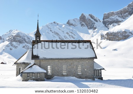 Chapel in Melchsee-Frutt, Switzerland - stock photo