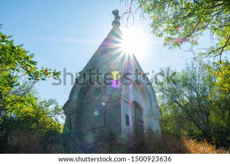 Chapel in sunbeams near Bakhchisarai #1500923636