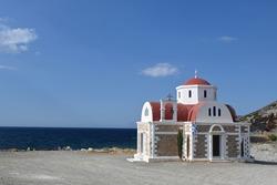 Chapel near the beach in Pachia Ammos, Crete island