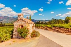 Chapel near Vineyards in Napa Valley California USA
