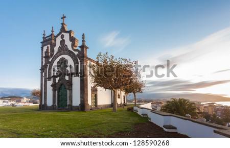 Chapel of Mae de Deus in Ponta Delgada, Sao Miguel, Azores, Early morning.
