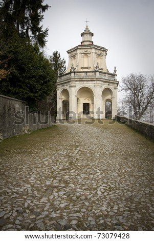 chapel of sacro monte of varese in italy