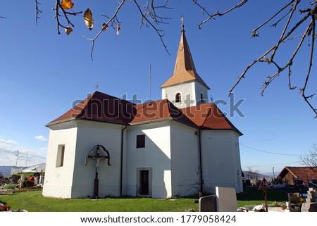 Chapel of the Holy Cross in the village Sveti Kriz Brdovecki, Croatia Stok fotoğraf ©