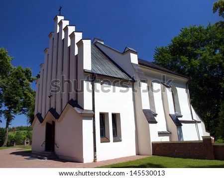 Chapel of the miraculous statue of Our Lady of Kebelskiej in Wawolnica in eastern Poland