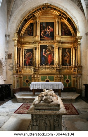 Chapel of the Visitation (Capilla de la Visitacion) in Burgos Cathedral, Castilia, Spain. Archbishop's sepulchre. Old Catholic landmark listed on UNESCO World Heritage List. #30446104