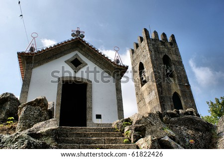 Chapel on the rocks, north of Portugal