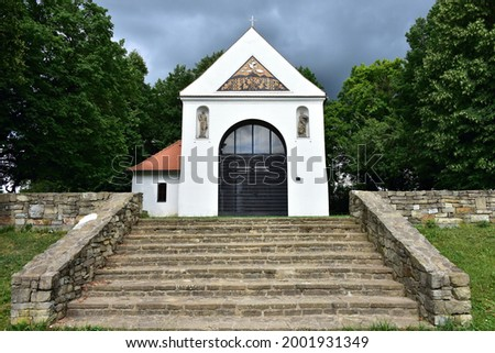 chapel Saint Rocha near town Uherske Hradiste in Czech republic Foto stock ©