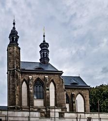 Chapel Sedlec ossuary Kostnice Church a place Kutna Hora, Czech Republic. Human bones and skulls. A tourist destination, popular tourist attraction.