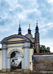 Chapel Sedlec ossuary Kostnice Church a place Kutna Hora, Czech Republic. Human bones and skulls. A tourist destination, popular tourist attraction. Memento more.