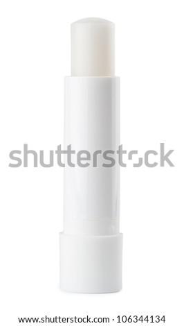 Chapstick on white background